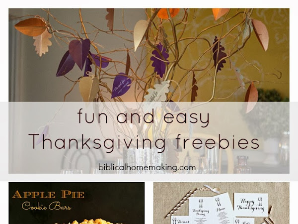 my favorite thanksgiving freebies this year + one yummy recipe