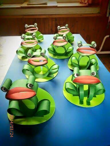 Idea to make frog folding paper for kids