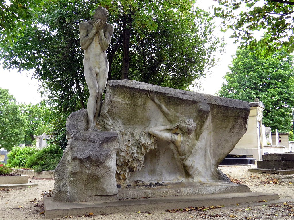 La séparation du couple, The Separation of a Couple by de Max, Montparnasse Cemetery, Paris