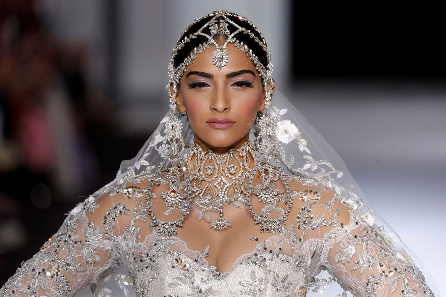 Sonam Kapoor at Ralph & Russo's Haute Couture Show Stills In Paris