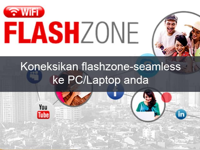 Cara Menghubungkan WiFi Flashzone-Seamless ke PC/laptop 1