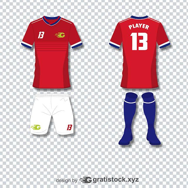 Free Download PSD Mockup - T shirt Jersey Football team