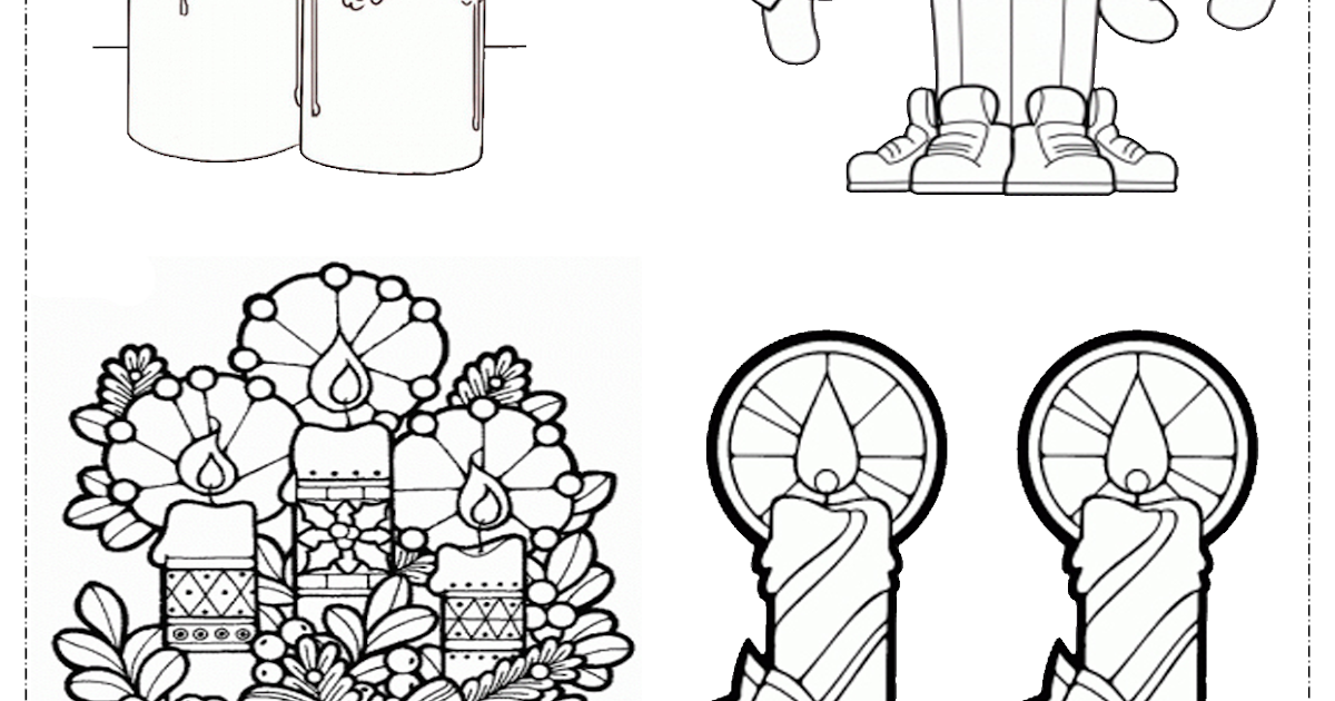 Educar X: Velas De Natal Para Colorir E Imprimir