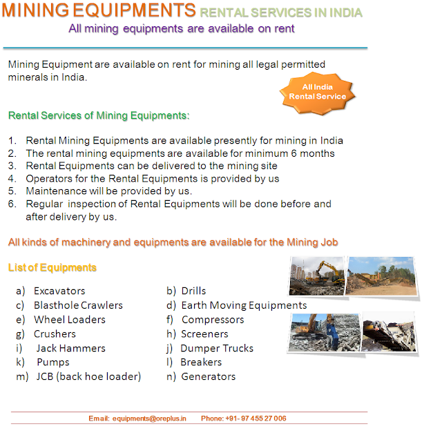 Mining Equipments | Rental and Hiring Services