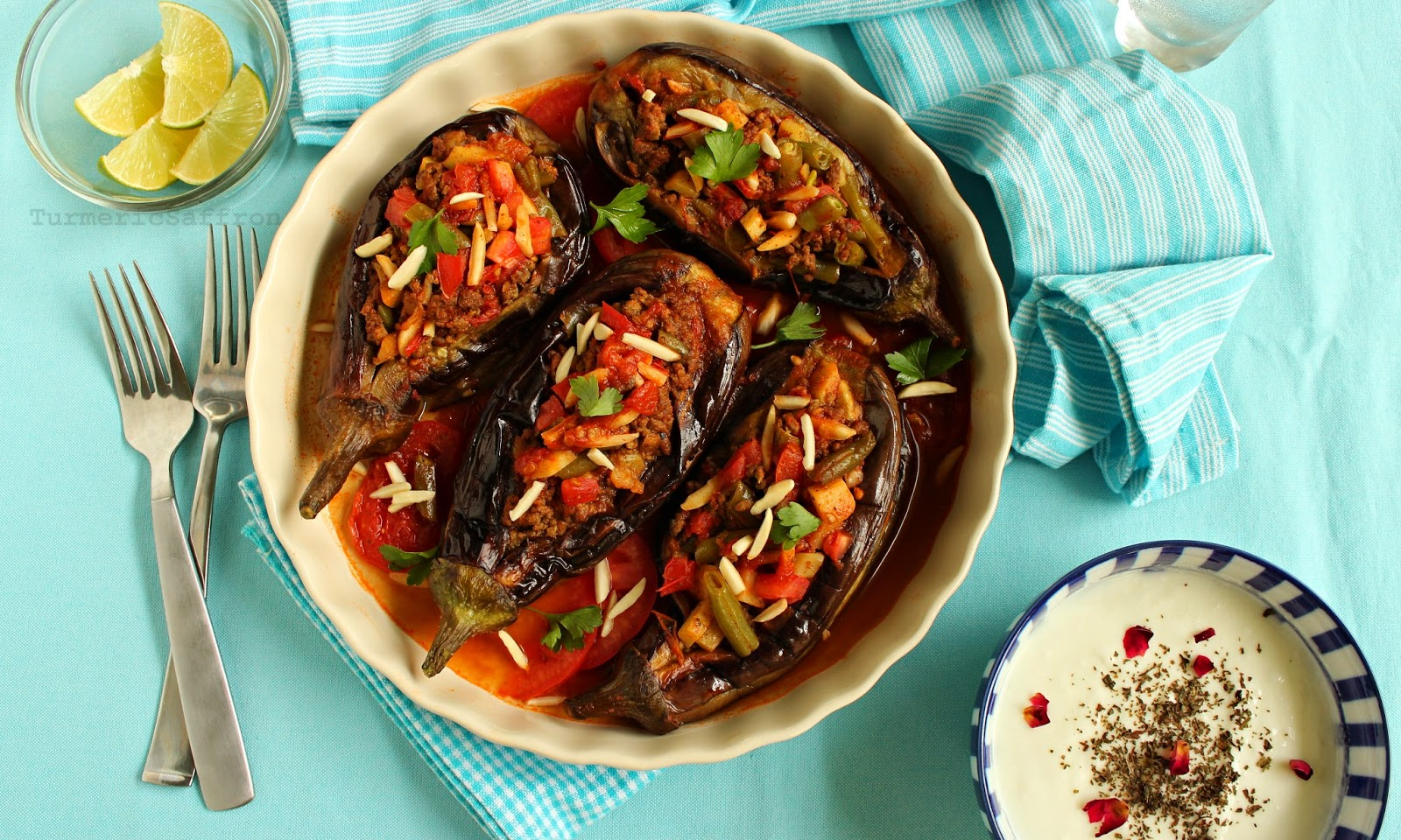 Bademjan Shekam Por Persian Stuffed Eggplant