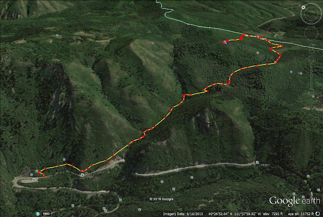 Pine Hollow Trail map, American Fork Canyon, Hiking in Utah with Dogs