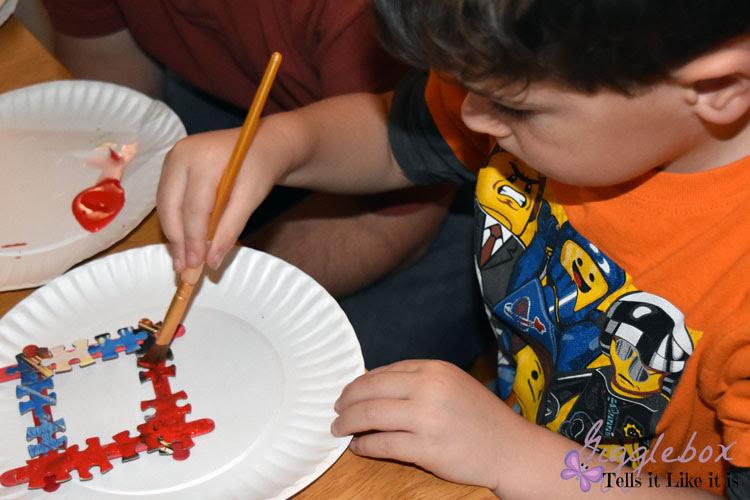 Puzzle Photo Frame Christmas Ornament Gigglebox Tells It