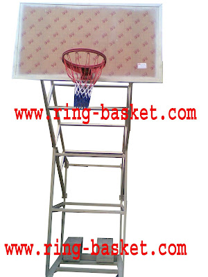 tiang mobile portabel basket