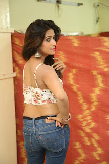 Deekshita Parvathi in a short crop top and Denim Jeans Spicy Pics Beautiful Actress Deekshita Parvathi January 2017 CelebxNext (41).JPG
