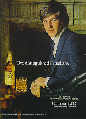 Bobby Orr and Canadian LTD Whiskey