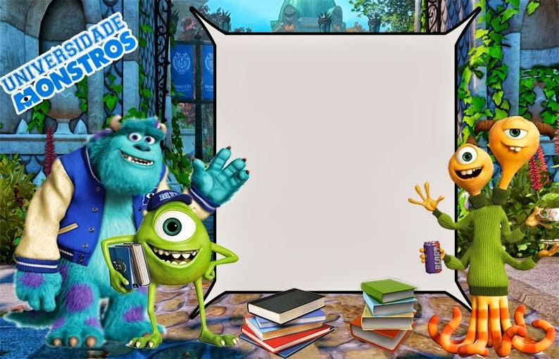Universidad de Monstruos: Divertidas Invitaciones para Imprimir Gratis.