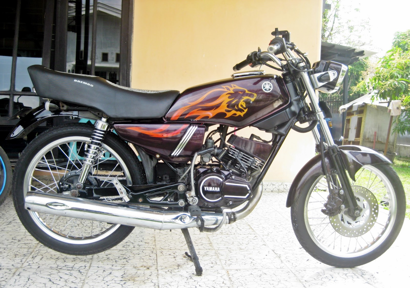Top Modifikasi Motor King Warna Hitam Terbaru Modifikasi Motor
