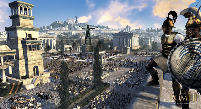 A screenshot of a scene from the game rome 2: total war