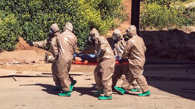 Investigadores dizem que o gás sarin pode ter sido usado no ataque que, na terça-feira, matou pelo menos 86 pessoas na província de Idlib, na Síria
