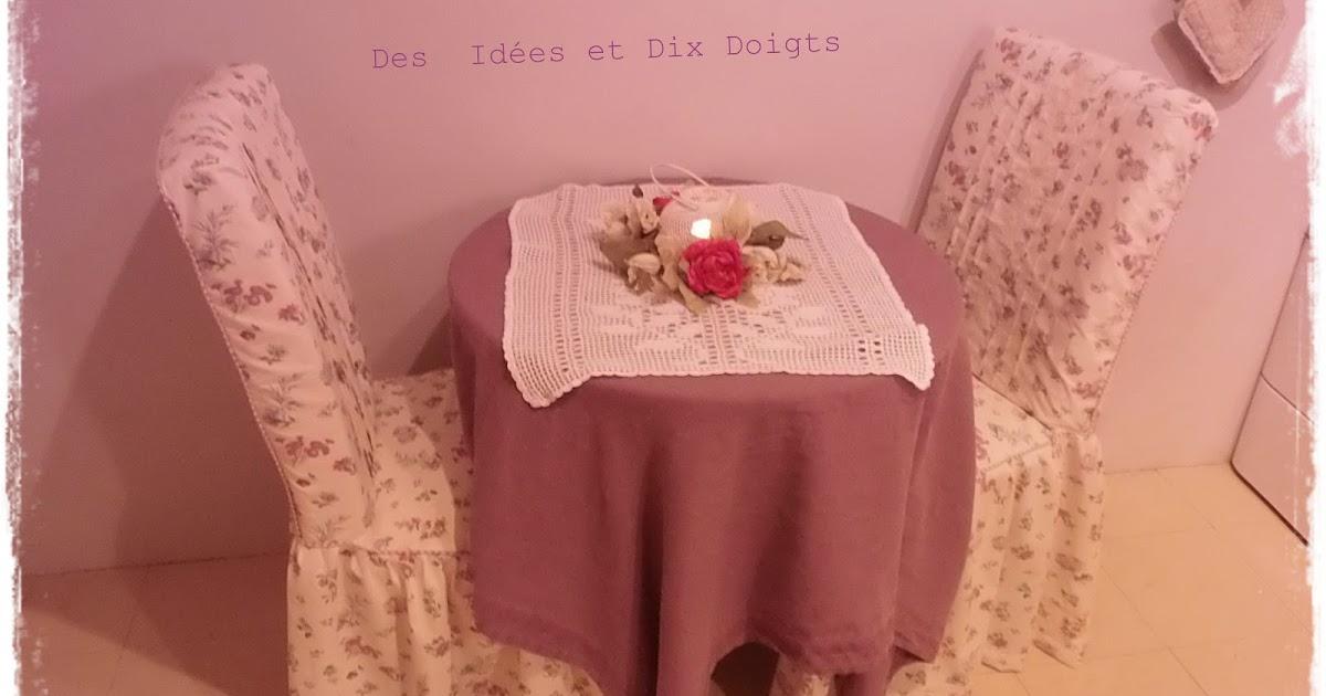 Les petits c t s de rose nouvelles housses de chaises for Coudre housse chaise