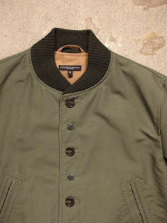 "Engineered Garments ""TF Jacket in Olive Cotton Double Cloth"""