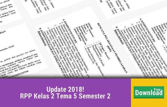 RPP Kelas 2 Tema 5