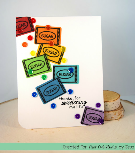 Rainbow Thank You Card by Jess Crafts for Mint Owl Studio