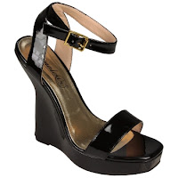 Sandale cu toc ortopedic inalt si platforma, de culoare neagra - Timeless (Timeless)