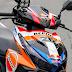 Mẫu sơn tem đấu Honda Click 2015 phong cách Repsol