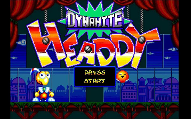 Dynamite Headdy, juego plataformas, Sega, Mega Drive, manejas a la marioneta Headdy, Headdy, ebay, rom, master system, trucos, tutorial, guía, juego retro, plataformero