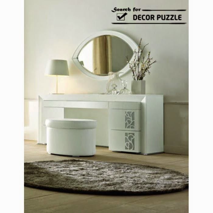 white modern dressing table designs for bedroom, dressing table mirror