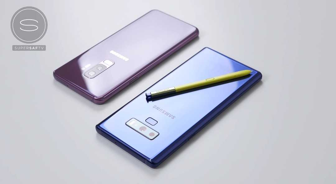 Samsung Galaxy Note 9 vs Galaxy S9+ phone comparisons.