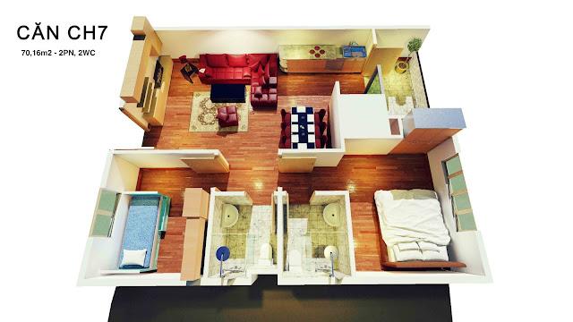 Thiết kế căn 07 tháp doanh nhân