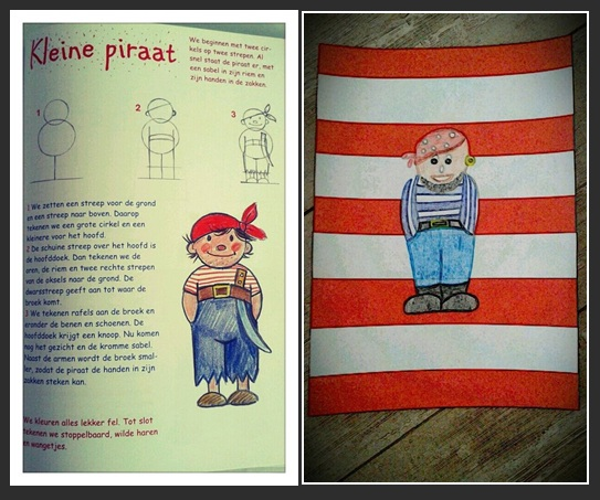 New JufShanna.nl: Tekenopdracht - piraat! @LI77