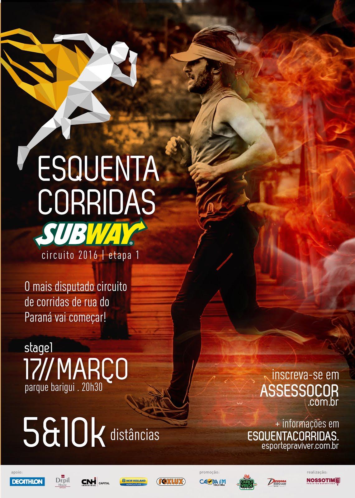e0ef45bfd Esquenta Corridas  Participe da 1ª etapa no Parque Barigui!