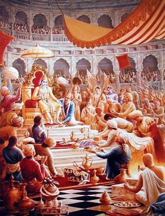 Chapter 64: Honoring Krishna and the obstruction of Shishupala