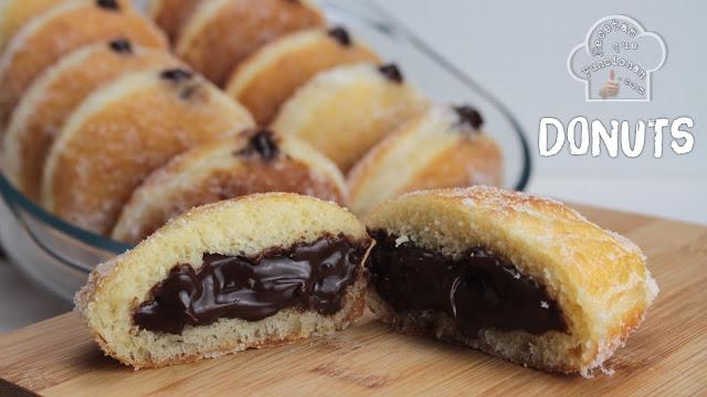 Receta de Donuts de azúcar rellenos de crema de Chocolate