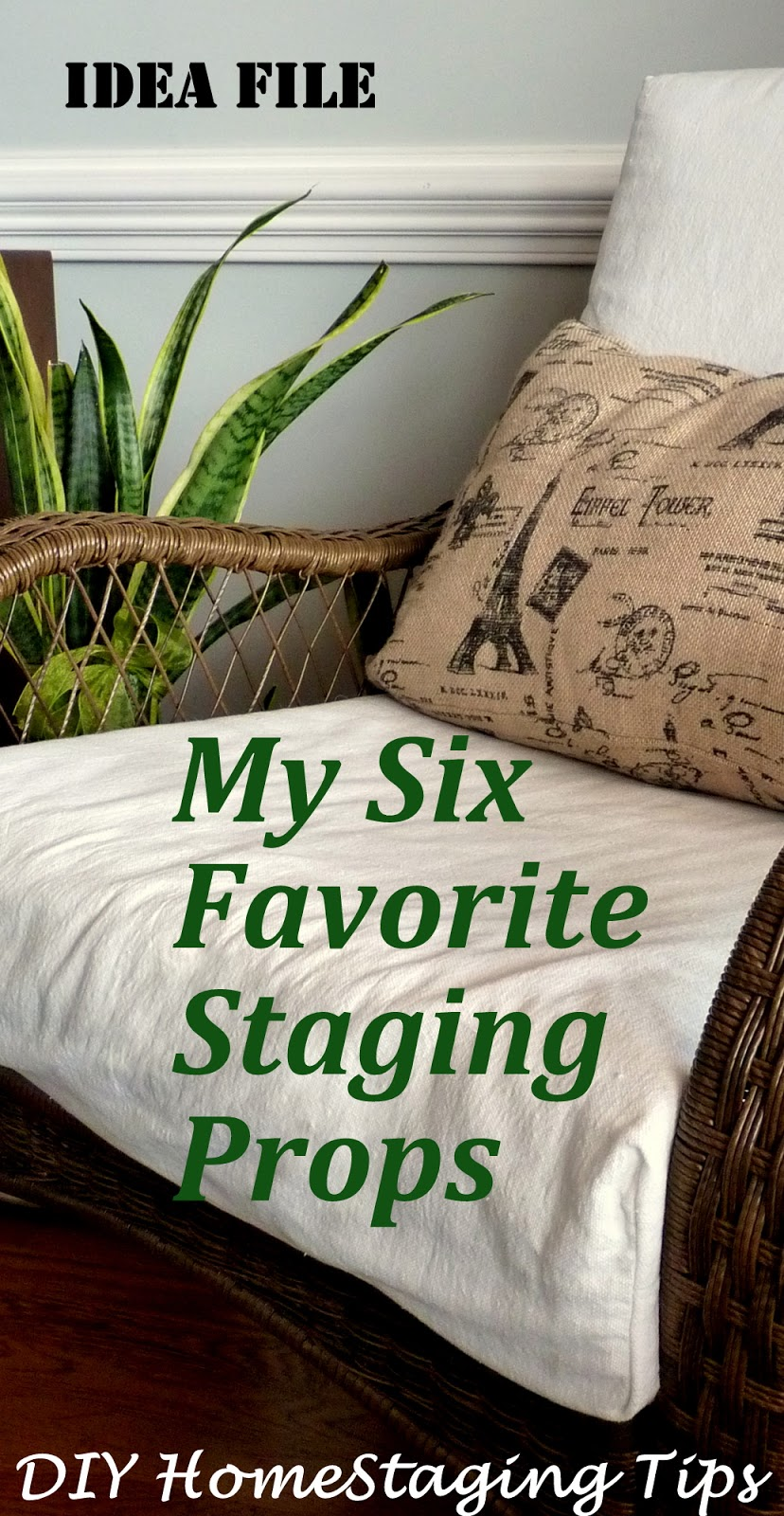 Model home staging props