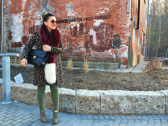 leopard print coat, leopard print jacket, how to wear leopard print, how to wear faux fur, faux fur stole, faux fur scarf, how to layer for spring, alexander wang boots, chanel bag, chanel classic bag, best toronto style, toronto fashion blogger, blogger style leopard print