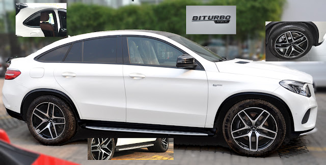 Hông xe Mercedes AMG GLE 43 4MATIC Coupe 2017 được thiết kế nổi bật, khác biệt