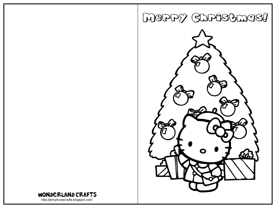 christmas greeting cards coloring pages | Wonderland Crafts: Kids