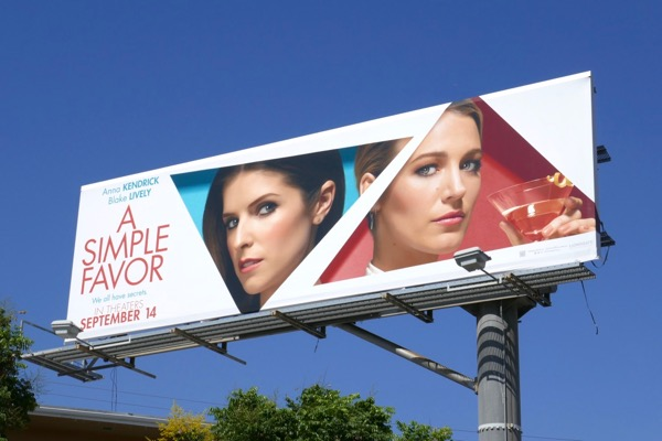 A Simple Favor movie billboard