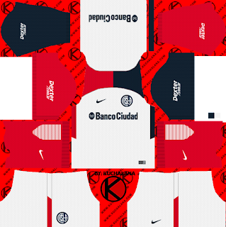 San Lorenzo 2018 Kit - Dream League Soccer Kits