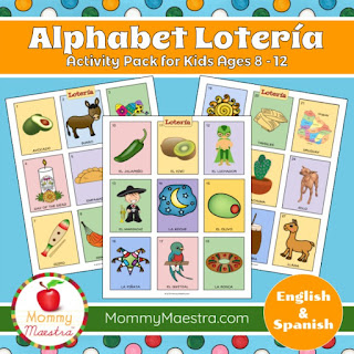 Alphabet Lotería from MommyMaestra
