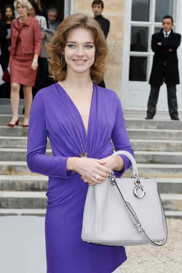 Celebrity Fashion Designer Handbags : Natalia Vodianova ...