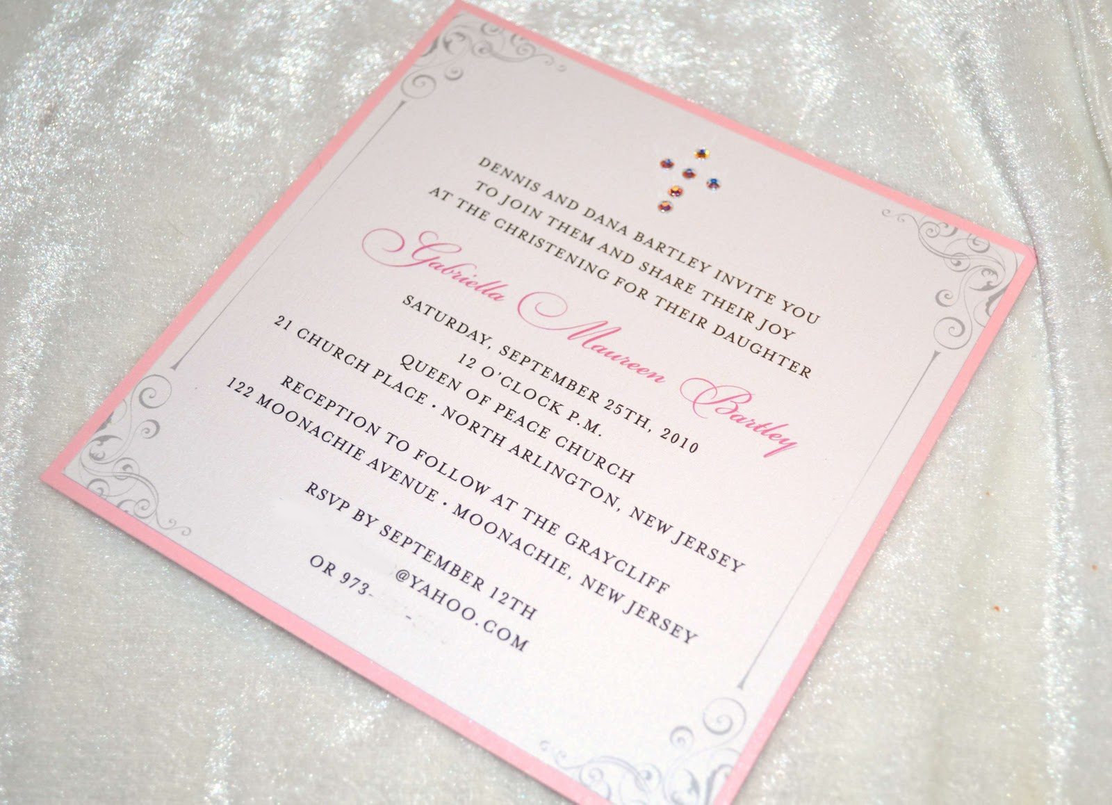 Crystals Christening Invitations Cake Ideas And Designs