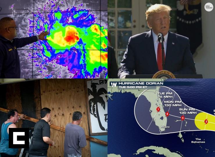 Video: Dorian podría ser huracán categoría 4 cuando llegue a Florida