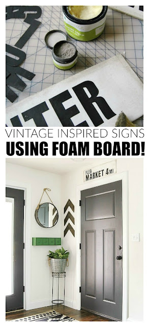 How to make vintage inspired foam board signs