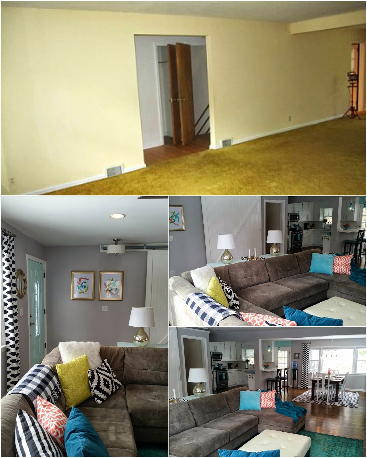 Retro ranch reno our rancher before after the living - Living room renovation before and after ...