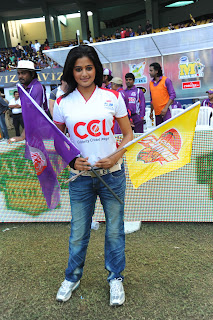 Actress Priyamani Pictures at CCl 2 (Celebrity Cricket League) Match