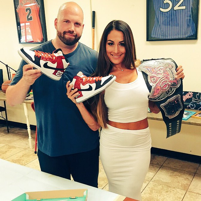 7228a63c411 NWK to MIA  A WWE Diva Will Be Wrestling in Custom Nike Sneakers at ...