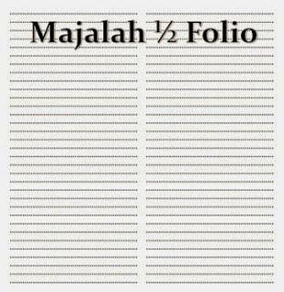 Kolomisasi Majalah ukuran ½ Folio = 2 – 3 Kolom, reka bentuk surat kabar, jurnal rozak