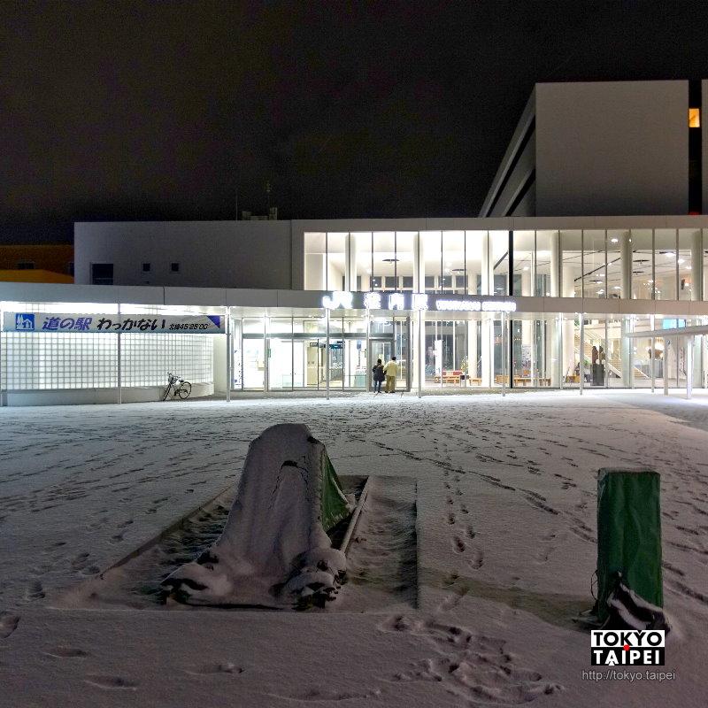 【稚內駅】飄著細雪的北緯45度 日本最北端車站