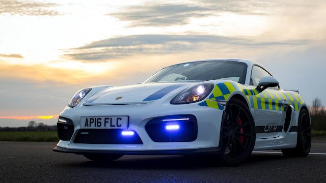 Porsche Cayman GT4 Police Car 2017 4K