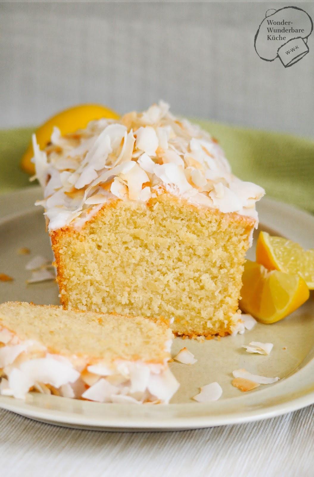 Kokos Zitronen Kuchen